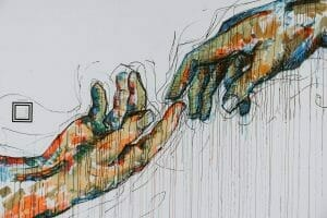 Fingers touching