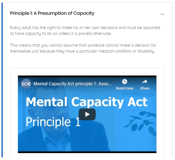 Social Care Mental Capacity Act Essentials Courses | eLearning