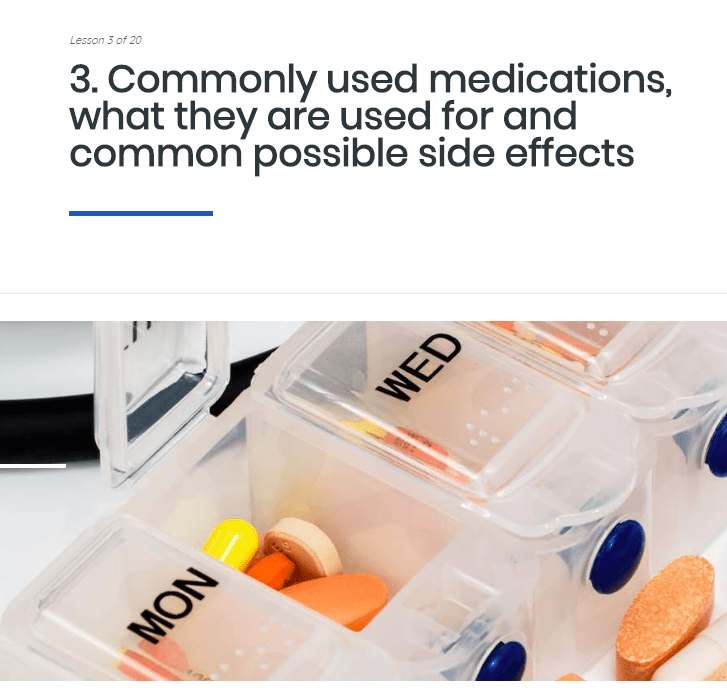 Medication - Supporting and Assisting Course | Social Care eLearning Training