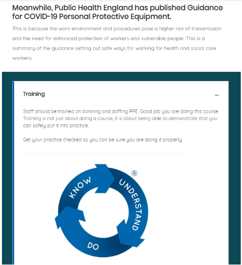 Social Care PPE (COVID-19) Essentials Courses | Care Certificate eLearning