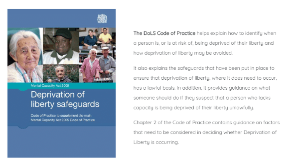 Deprivation of Liberty Safeguards (DoLS) Essentials Training Course for Social Care Companies
