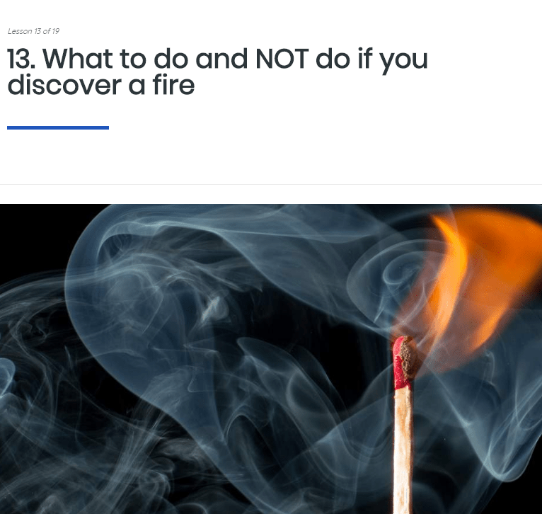 Fire Safety Awareness Training Course | Care Certificate eLearning