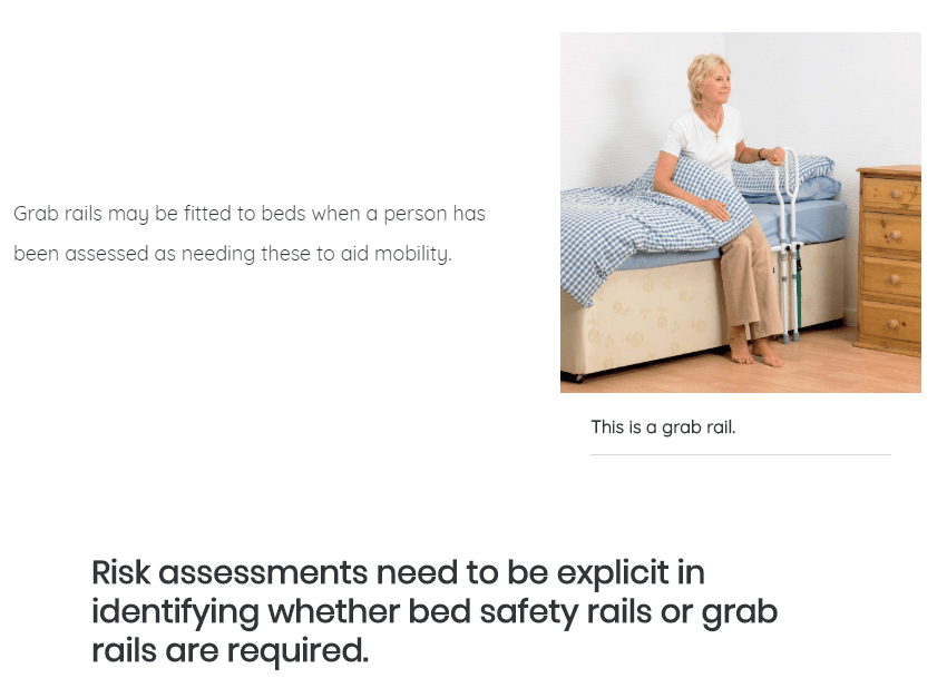 Social Care Company eLearning Course for Bed Rail Safety | Care Certificate