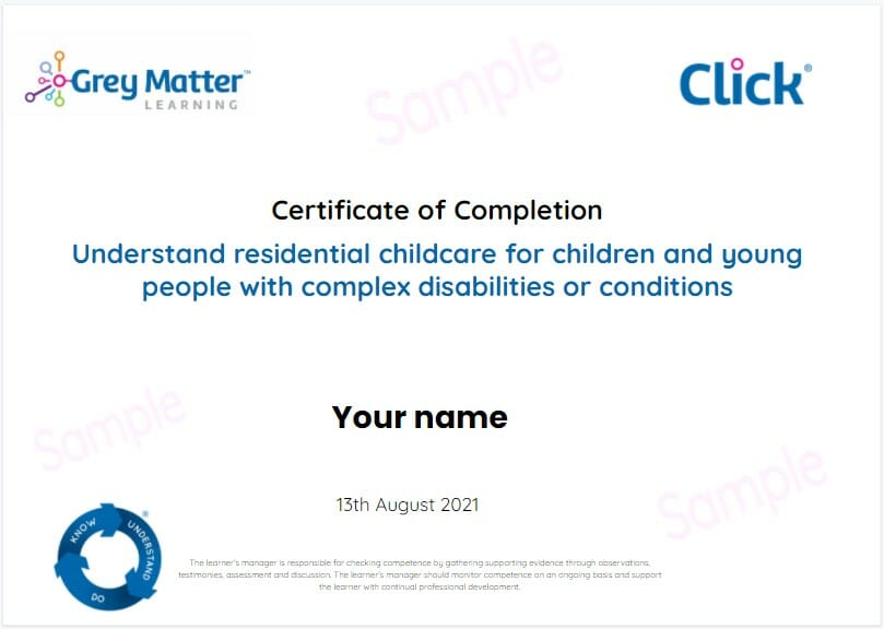 Complex conditions certificate